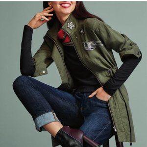 Cabi Hanson Anorak Jacket Coat Military Green XL
